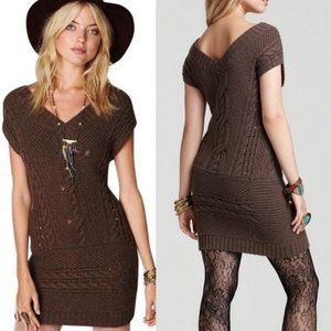 Free People Autumn Garden Sweater Dress Size Small
